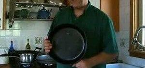 Cure new cast iron pans