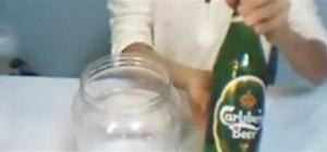 Empty a beer bottle in one second