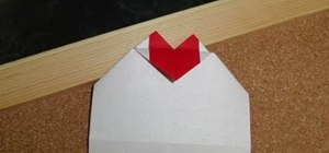Fold a quick and easy Valentine's Day message card