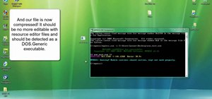Compress and encrypt an .EXE file with MPRESS