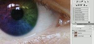 Create a rainbow iris effect in Adobe Photoshop