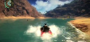 Find the mechanical shark easter egg in Just Cause 2