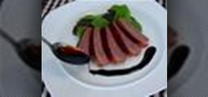 Make a French black currant and balsamic gastrique