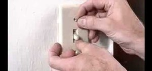 Install foam gaskets under light switch plates