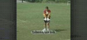 Practice the collecting low balls soccer drill