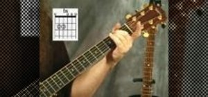 Play the minor chords on the acoustic guitar