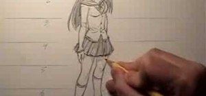 Draw female body proportions in the manga style