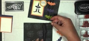 Make your own Halloween greeting card with Wicked Cool stamps