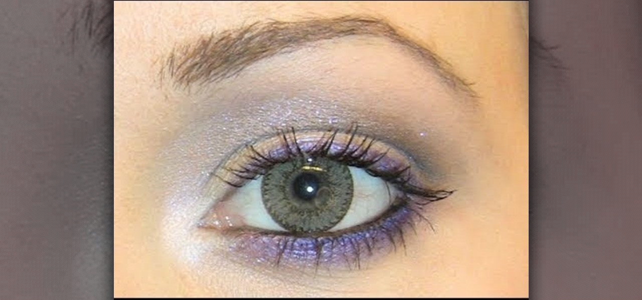 How To Create A Purple And Silver Eye Look For Light Brown