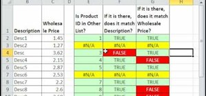 Cross-check two lists for discrepancies in MS Excel