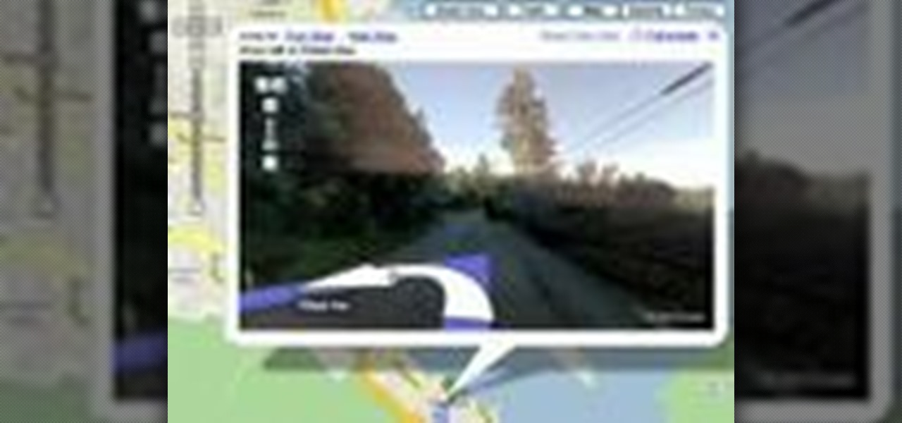 Google Maps Driving Directions with Street View