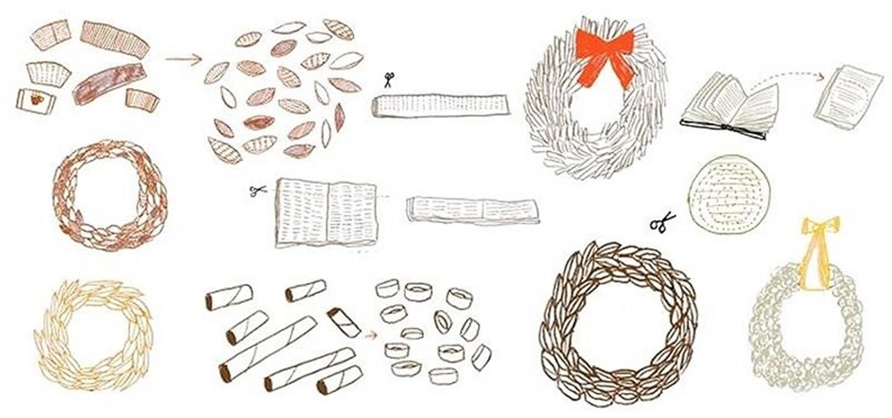 4 Ways to Make a Christmas Wreath Out of Paper Waste