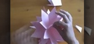 Make a 3D Japanese kusudama paper rose star