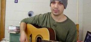 Play acoustic slide guitar
