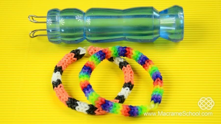 How to Make a Rainbow Loom Bracelet with Knitting Spool
