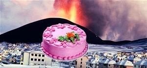 Exploding Volcano Cake