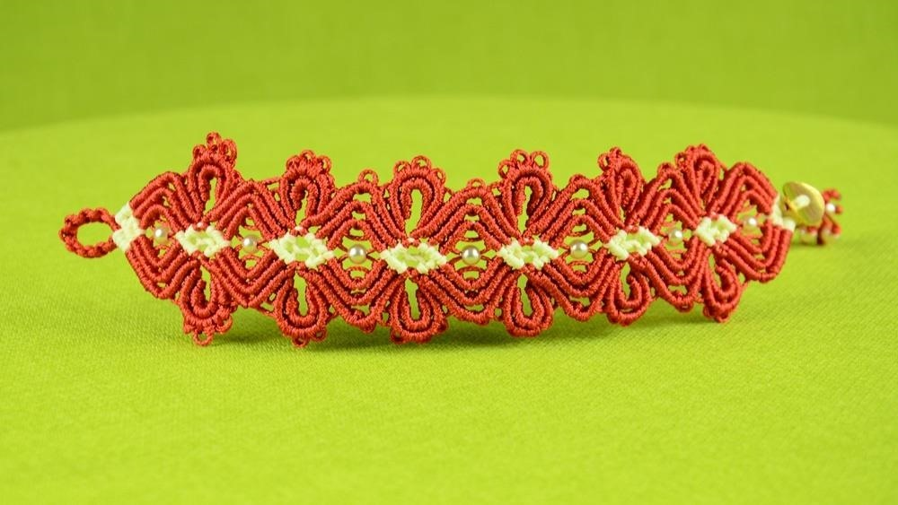 Diamond Flower Bracelet Tutorial