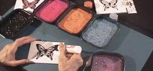 Make a glittering butterfly