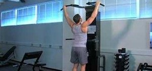 Do wide grip pull ups on Gravitron with slow negatives