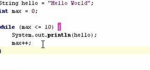 Program While and For statements in Java
