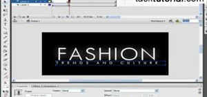 Make a fashion style logo animation in Flash