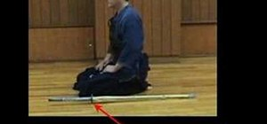 Sit in Seiza in Kendo