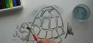 Draw a cartoon tortoise