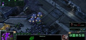 Use Terran Siege Tanks to defend ledges in StarCraft 2