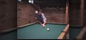 Adopt a proper stance when playing pool