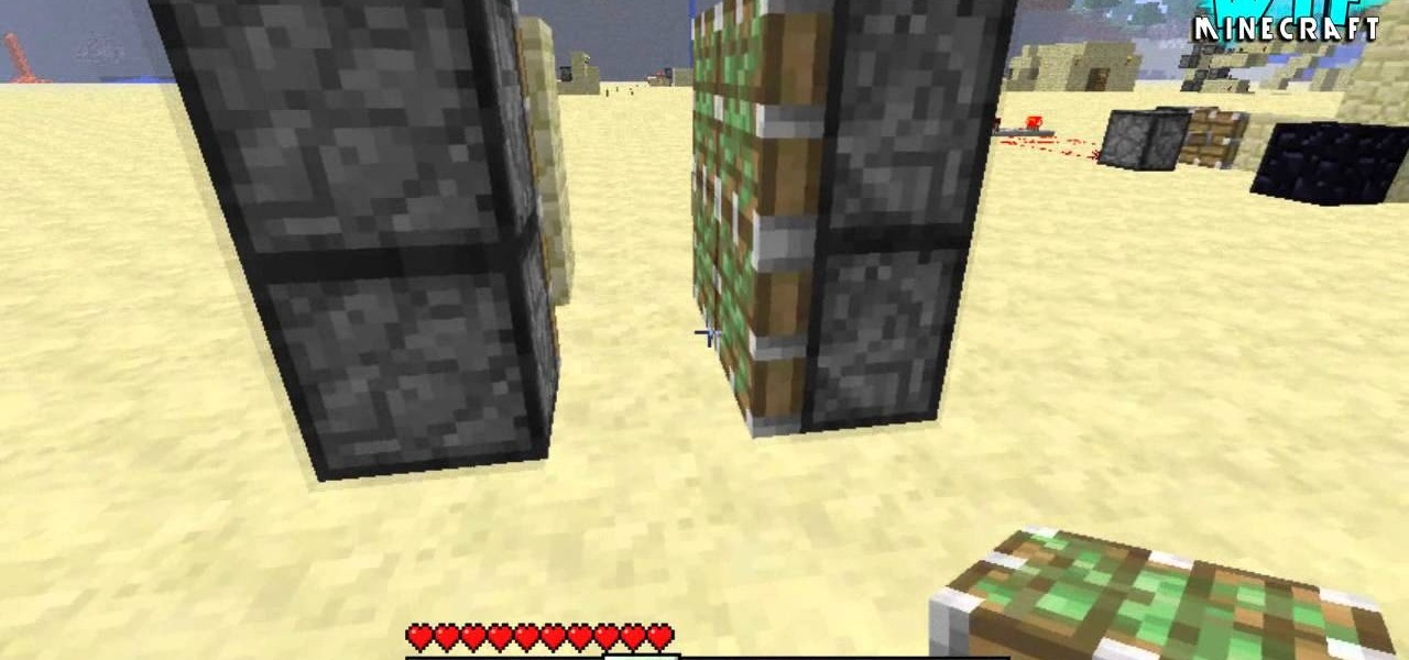 How To Use Pistons To Build A Secret Door In Minecraft PC Games & How To Make Sliding Doors In Minecraft Photo Album - Woonv.com ...