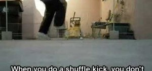 Do the shuffle kick when c-walking
