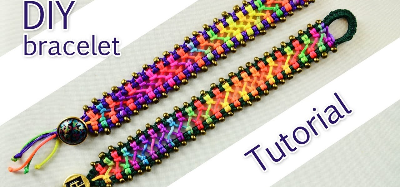 Make a Easy Macrame Criss-Cross Bracelet