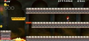 Collect all three Star Coins in New Super Mario Bros Wii World 2-End Castle