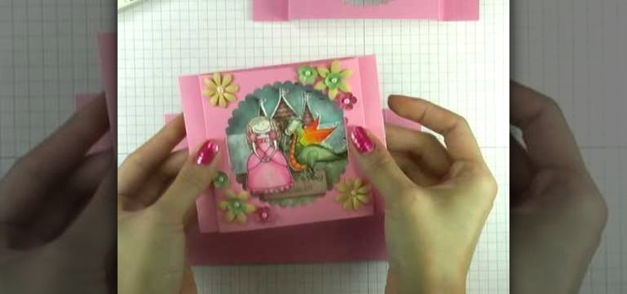 How to make a peek a boo greeting card papercraft wonderhowto m4hsunfo