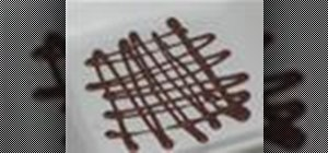 Decorate desserts with a chocolate lattice