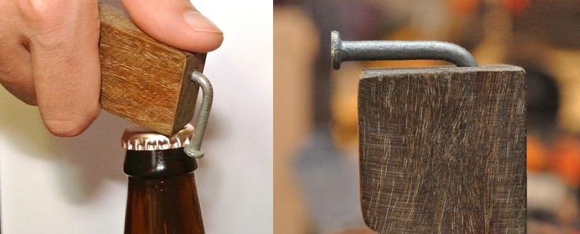 DIY Wood and Nail Bottle Opener