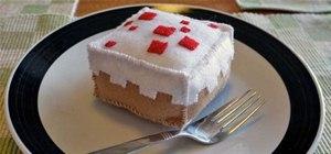 Mini Minecraft Cake