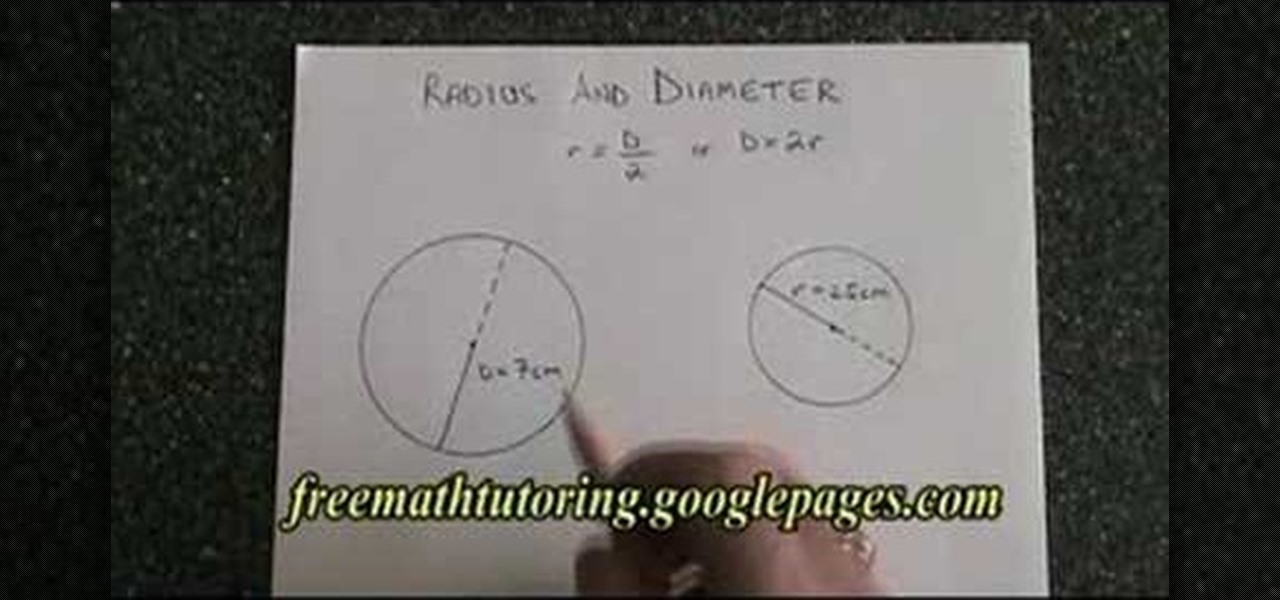 how to turn the circumference into area