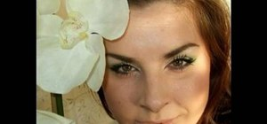 Create a white orchid inspired wedding day makeup look