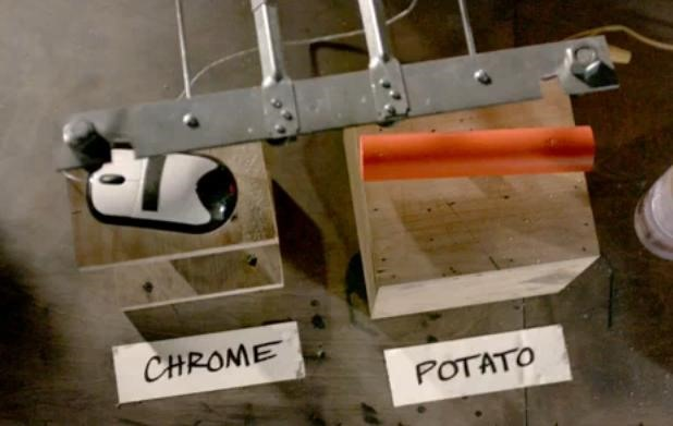 Google Chrome Potato Gun High Speed Video