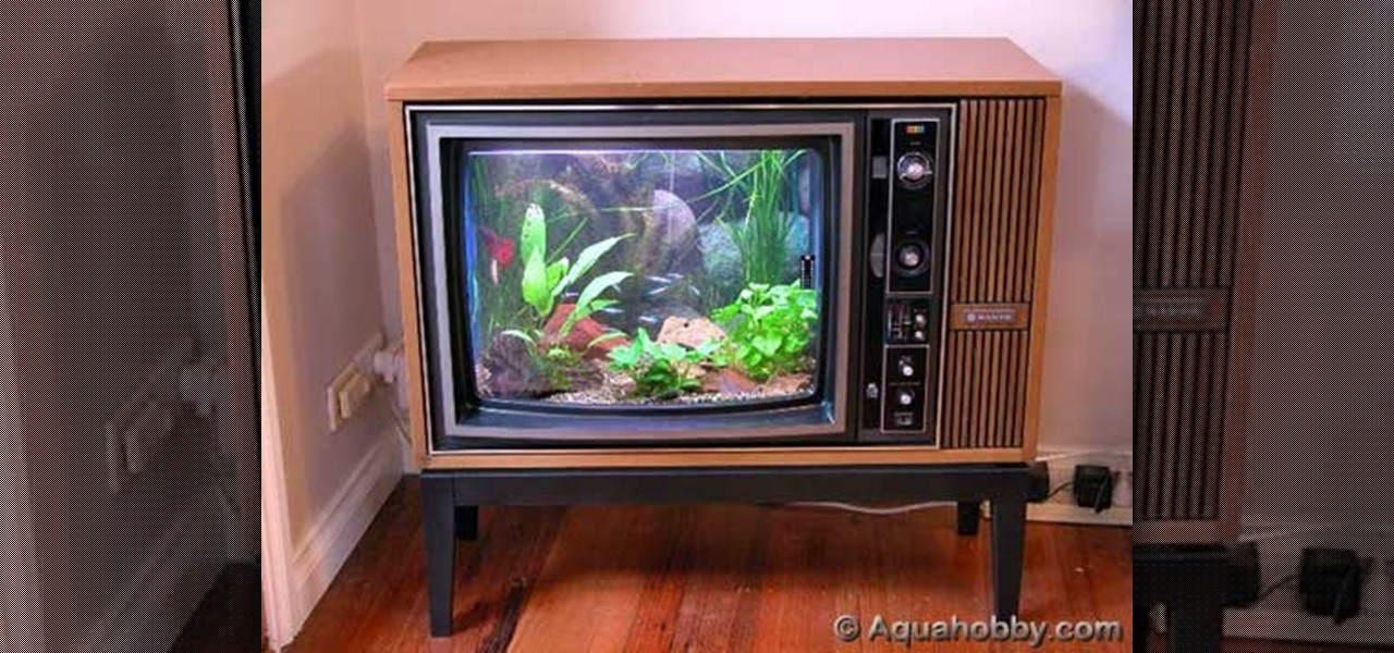 How To Turn An Old TV Into A Sweet Fish Tank! « MacGyverisms :: WonderHowTo