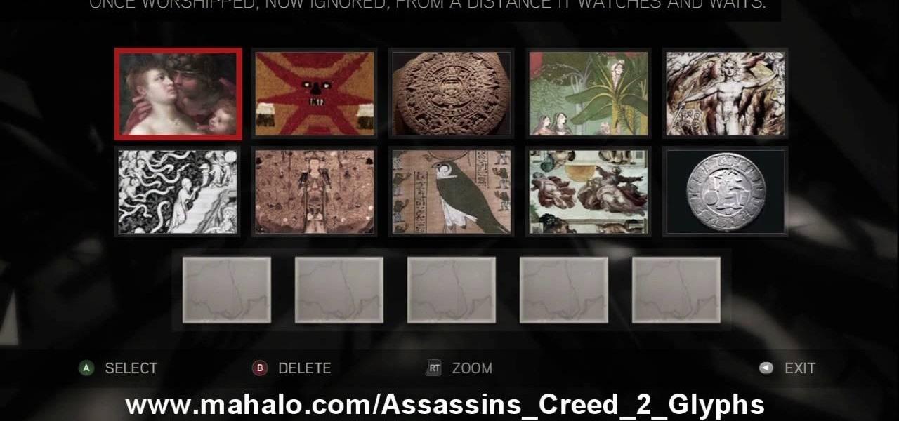Assassins creed 2 глифы