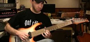 Play Mixolydian mode riffs on electric guitar
