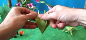 Fold a sweet origami jumping frog for beginners