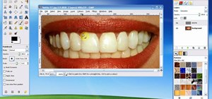 Whiten teeth in the Gimp image editor