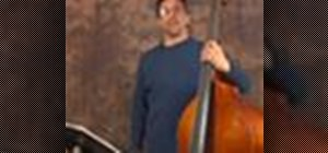 Play upright bass songs in 3/4 time