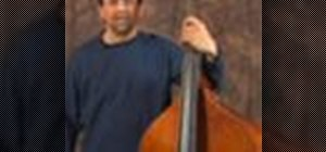 Play upright bass scales