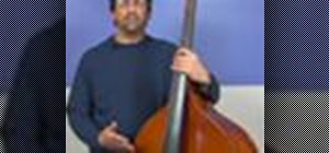 Play up the neck on an upright bass
