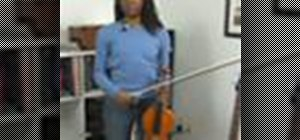 Practice second position on the violin
