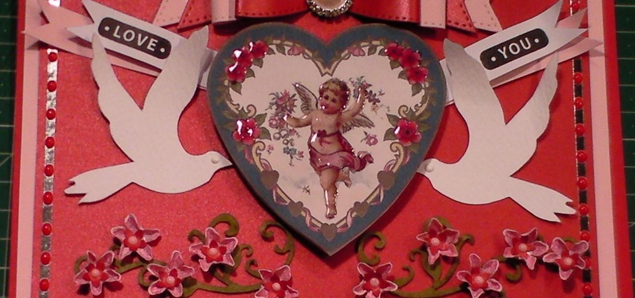 Make a Victorian Vintage Cherub Valentine Card